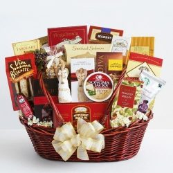 Sympathy Gift Basket with Keepsake Angel by Gifts to Impress