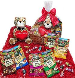 Valentines Day Candy & Chocolate Gifts Basket – Lindt Lindor Truffles Chocolate Candy, ...
