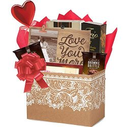 Love You More Romantic Gift Basket for Valentine's Day by Gifts Fulfilled