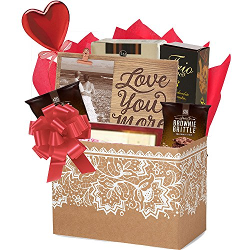 Romantic gift baskets archives ubaskets ubaskets love you more romantic gift basket for valentines day by gifts fulfilled sciox Image collections