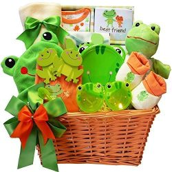 Art of Appreciation Gift Baskets Baby's Best Friend Frog Gift Basket, Neutral