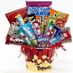 Art of Appreciation Gift Baskets Junk Food Junky Snacks and Candy Bouquet Gift Set