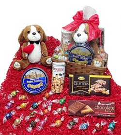 Cookies & Candy Lovers Valentines Day Gift Basket – Lindt Lindor Chocolate Truffles, C ...