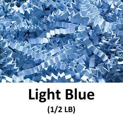 Crinkle Cut Paper Shred Filler (1/2 LB) for Gift Wrapping & Basket Filling – Light Blu ...