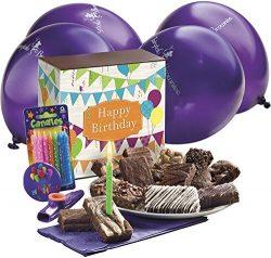 Fairytale Brownies Birthday Surprise Gourmet Food Gift Basket Chocolate Box – 3 Inch x 1.5 ...