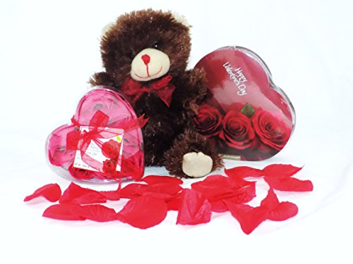 Valentine's Day Chocolate Roses and Teddy Bear Gift