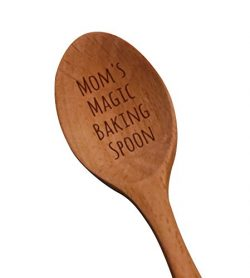 "Laser Engraved ""Mom's Magic Baking Spoon"" Wooden Spoon – New Mom Gifts – Bakin ..."