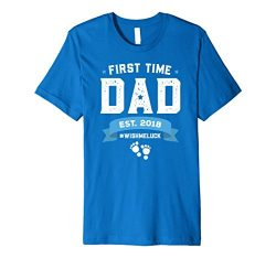 Mens Gift For First Time New Dad To Be Shirt Father's Day T-Shirt 2XL Royal Blue