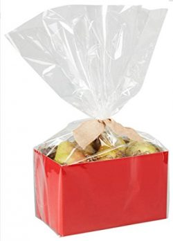 CLEARANCE – 13″ x 17.5″ x 4″ Small Cello Bags for Small Basket Boxes for ...