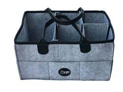 Diaper Storage basket Organizer with removable dividers. Portable Nursery Storage bin for boys g ...