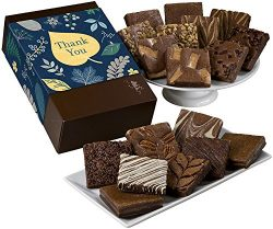 Fairytale Brownies Thank You Eighteen Gourmet Food Gift Basket Chocolate Box – 3 Inch Squa ...