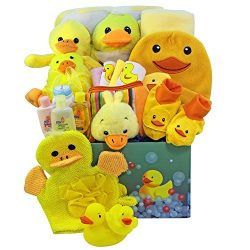 Art of Appreciation Gift Baskets Splish Splash Baby Bath Time Fun Care Package Gift Box, Neutral ...