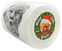 """Buttswipes DONALD TRUMP """"Whiny Little Grinch"""" Toilet Paper Funny Gag Gift Stocking S ..."""
