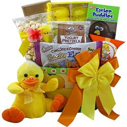 Lucky Duck Easter Gift Basket with Chocolate and Candy Treats