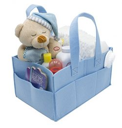 Sorbus Baby Diaper Caddy Organizer   Nursery Storage Bin for Diapers, Wipes & Toys   Portabl ...