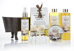 Spa Gift Basket Nature Spa Vanilla, Enriched with Natural Argan Oil, Perfect Wedding, Birthday o ...