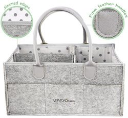 Upsy Baby Portable Diaper Caddy and Nursery Storage bin – Changing Table Basket and Car Or ...