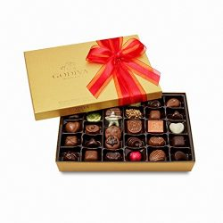 Godiva Chocolatier Gold Ballotin Assorted Gourmet Chocolates 36 Piece Gift Box, Easter Basket St ...
