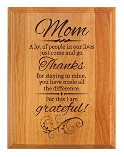 Mother Day Gifts for Mom Thanks for Staying in My Life Mother Day Gifts for Mom 7×9 Oak Woo ...