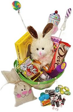 Lots of Chocolate Easter Basket for Kids and Adults – Chocolate Scented Stuffed Bunny &#82 ...