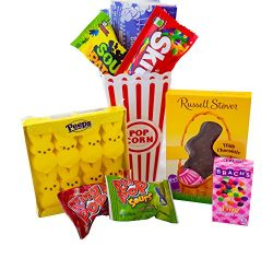 Easter Movie Night Gift Set Gift Basket (Color May Vary) Family Easter Present, Chocolate, Candy ...