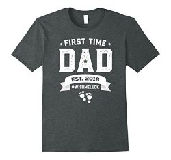 Mens Gift For First Time New Dad To Be Shirt Father's Day T-Shirt XL Dark Heather