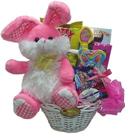 "Delight Expressions ""Easter Bunny"" Gift Basket for Kids – Easter Gift for Girls"