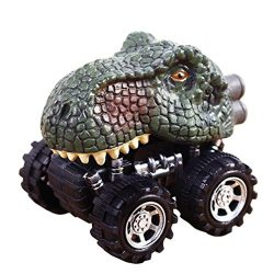 E-SCENERY Dinosaur Toys Truck, Pull Back Cars Big Tire Wheel Vehicles Playset for Kids Toddlers  ...