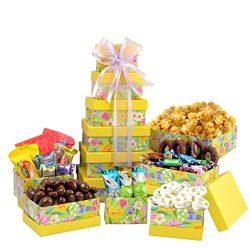 Broadway Basketeers Easter Gift Basket Gourmet Chocolate Easter Treasures Gift Basket Tower Asso ...