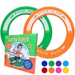 Best Kids Ring Frisbees [Green/Orange] Play Ultimate Toss Games with Friends and Family Outdoors ...