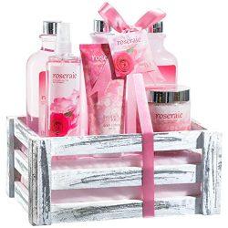 Beautiful & Luxurious Pink Rose Bath Gift Set for Women by Freida Joe – Romantic & Elega ...