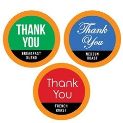 THANK YOU Single Serve Coffee Variety K-Cups – 12 Cup Gift Box With 3 Gourmet Coffee Varie ...