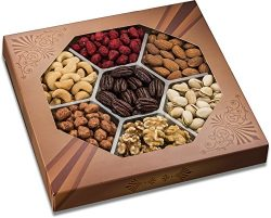 Freshly Roasted 7 Mixed Nuts Gift Tray | Healthy & Gourmet Snacks, Almonds, Pistachios, Cash ...