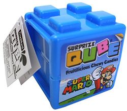 Nintendo Super Mario Surprize Qube with Chewy Candy and Stickers (Single)