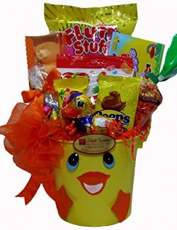 Delight Expressions Easter Ducky Gift Pail – A Holiday Gift Basket for Kids