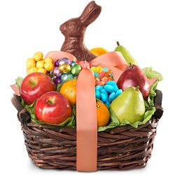 Golden State Fruit Easter Bunny Fruit and Treats Gift Basket