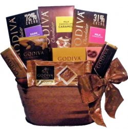 "Delight Expressions ""Chocolate Delights"" Godiva Gourmet Gift Basket – Holiday  ..."