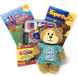 Get Well Soon Gift for Kids with Plush Teddy Bear Patient, Pretend Play Doctor Kit, Activity Boo ...