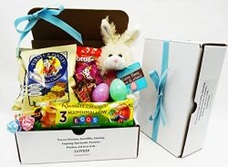 Unlocking Greatness You are Loved Easter Spring Chocolate Scented Bunny Rabbit Gift Basket