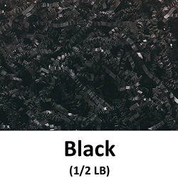 Crinkle Cut Paper Shred Filler (1/2 LB) for Gift Wrapping & Basket Filling – Black | M ...
