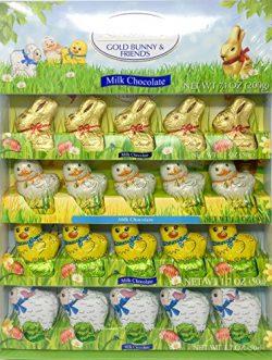 Lindt Lindor Gold Bunny & Friends Novelty   Easter Basket Stuffer or Tabletop Decoration   F ...