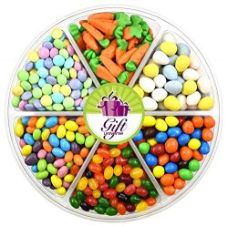 EASTER GIFT TRAY – 2 Lbs – Easter Cadbury Mini Eggs, Easter Gummy Carrots Candy, M&a ...