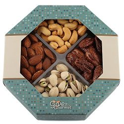 GIVE IT GOURMET, Freshly Roasted Delicious Healthy Nuts Holiday Gift Basket (Medium Gift Tray)