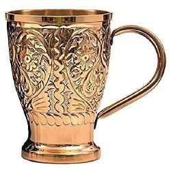 Engraved Copper Mugs Moscow Mule Mugs Gift Set of 2 Hammered Copper Cups