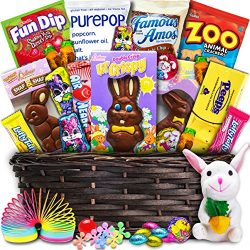 Deluxe Easter Basket (30ct) – Premade and Shrink-Wrapped, Kids, Boys, Girls – Filled ...
