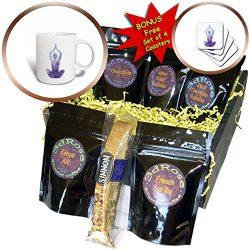 3dRose Sven Herkenrath Buddha – Purple Yoga Women with Colorful Design Buddha Meditation & ...