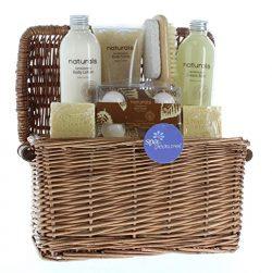 Holiday Gift Baskets, Spa Gift Sets For Women Sandalwood Naturals Spa Basket