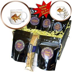 3dRose Taiche – Greeting Card – Happy Norooz – Elegant Happy Norooz Goldfish P ...