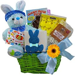 Art of Appreciation Gift Baskets Bunny Treats Chocolate and Candy Easter Basket, Blue