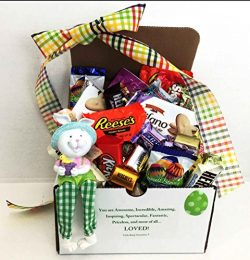Unlocking Greatness You Are Loved Easter Figurine, Chocolate, and Cookies Gift Basket